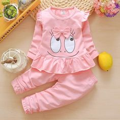 BibiCola Baby Girls Clothing Set Spring Autumn Kids Tracksuit Set for Girls Kids Casual Suits Baby Girls Outfit Costume Clothes Fashion Kids, Little Girl Fashion, Little Girl Dresses, Toddler Fashion, Toddler Outfits, Kids Outfits, Fashion 2015, Fashion Wear, Fashion Outfits