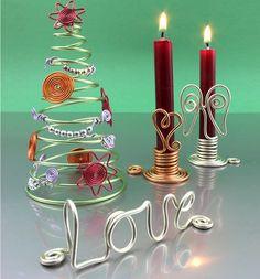 Weihnachtsdeko aus Aludraht | TOPP Bastelbücher online kaufen (Diy Wedding Hanger)