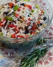 Christmas Rice Salad with Canadian wild rice