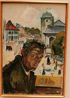 Автопортрет в Бергене - Эдвард Мунк