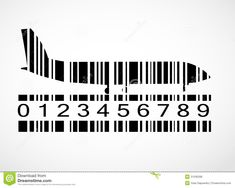 Barcode airplane PD