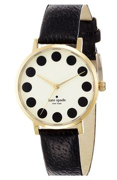 kate spade new york 'metro' patterned dial watch available at #Nordstrom