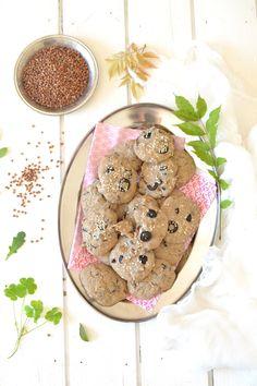 Cookies sarrasin ~ olives noires ~ tomates séchées { Sans gluten }