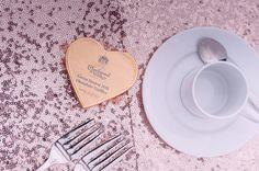 Marie Antoinette Pink Wedding Sequin Table Cloths
