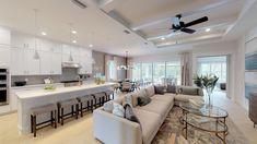 Explore The Anastasia Elite Modern Coastal in Design Your Own Home, Kitchen Design Open, New Home Communities, 3 Bedroom House, Modern Coastal, Plan Design, Model Homes, House Tours, Luxury Homes