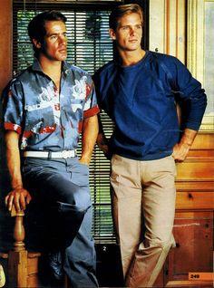 1980 fashion and men 1980s Mens Fashion, 1980s Fashion Trends, Trendy Fashion, Fashion Outfits, Runway Fashion, Style Fashion, 80s Guys Fashion, Fashion Styles, Fashion Clothes