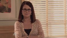 """Parks and Recreation. Leslie: """"I know Tammy seems scary, but really she's just a manipulative, psychotic, library book pedaling, sex crazed, She Demon."""" Megan Mullally as Tammy Swanson, the librarian from Parks and Recreation, Season 3, Episode 4"""