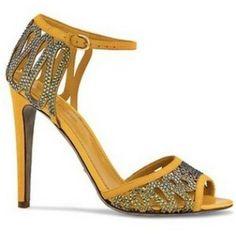 Sergio Rossi Ophidia crystal embellished sandals.