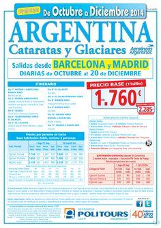 ARGENTINA - Cataratas y Glariares -sal. del 5/11 al 20/12 dsd Mad y Bcn (11d/8n) p. final dsd 2.285€ ultimo minuto - http://zocotours.com/argentina-cataratas-y-glariares-sal-del-511-al-2012-dsd-mad-y-bcn-11d8n-p-final-dsd-2-285e-ultimo-minuto-2/