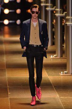 Hedi Slimane Dresses Indie Musicians Like Teddy Boys for Saint Laurent's Spring Menswear Collection