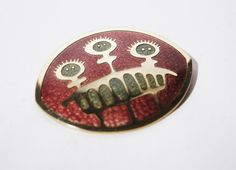 de Passille Sylvestre Brooch Large Alien Abstract by LuckyPatina