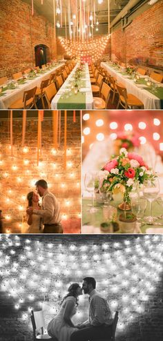 Love the lights in the bottom photo. Ann Arbor Wedding - via style me pretty / Photography By / Abby Rose Photo Event Planning By / Viva La Diva Events Wedding Trends, Wedding Blog, Wedding Styles, Our Wedding, Wedding Photos, Dream Wedding, Wedding Reception, Just In Case, Just For You