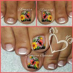 Sexy Nail Art, Sexy Nails, Toe Nail Art, Cute Toe Nails, Cute Toes, Fun Nails, Pedicure Designs, Toe Nail Designs, Valentine Nail Art