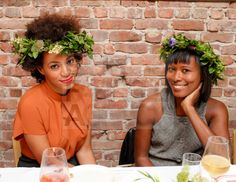 Solange Knowles and Shala Monroque  -  ACNE New York Flagship Store Opening Dinner at Il Buco Alimentari & Vineria, New York.  (2012)