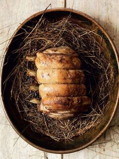 Veal baked in hay
