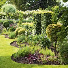 Charming walled garden.