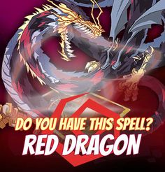 """SPELLS GALLERY: RED DRAGON.   """"We never heard of Red Dragons before the war. It is like they were dormant that entire time and Twilight invasion wake them from their slumber. Then we learned what a real power can be.""""  #game #rpg #fantasy #dragons #mages #magic #spells #warlock Play now! App Store / iOS: https://itunes.apple.com/app/war-of-warlocks/id799551713?mt=8 Google Play / Android: https://play.google.com/store/apps/details?id=air.com.greengeniegames.warlocks"""