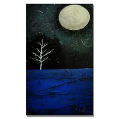 'Moonbeams' by Nicole Dietz Painting Print on Wrapped Canvas