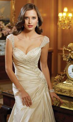 Glamour ~ Sophia Tolli Spring 2014 Bridal Collection | bellethemagazine.com