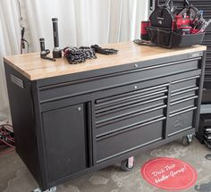 Husky is coming out with a HUGE mobile tool storage workbench! Husky Workbench, Rolling Workbench, Garage Workbench, Workbench Plans, Tool Storage, Garage Storage, Storage Ideas, Storage Hacks, Garage Organization Systems