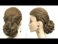 Messy Braided Bun Updo Tutorial. Fancy Hairstyles. - YouTube
