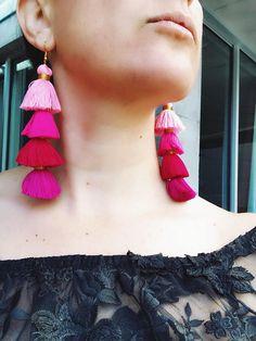 Tassel earrings Tassel jewelry statement jewelry boho