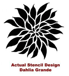 Flower Stencil Dahlia Grande SM Reusable door CuttingEdgeStencils