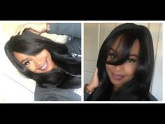 Outre Synthetic Lace Front Wig-Dominican Blowout Relaxed $30 Hair??? Show & Tell - YouTube