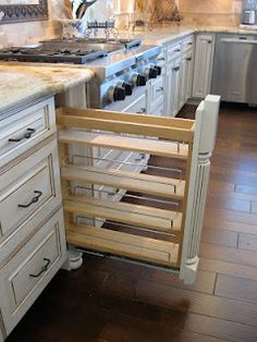 A pull out spice rack!