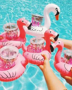 "Love and pretty things cupcakekristie: "" flamingo drink holder set Flamingo Party, Summer Pool, Summer Parties, Summer Fun, Teen Pool Parties, Pink Summer, Summer Beach, Summer Vibes, Sommer Pool Party"