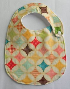 Circus Pattern Side Snap Adjustable Bib. $7.00, via Etsy.