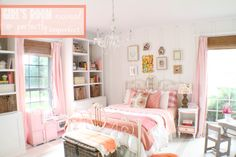 Adorable little girls room full of charm and personal touches. Via Girl's Room Reveal | perfectly imperfect