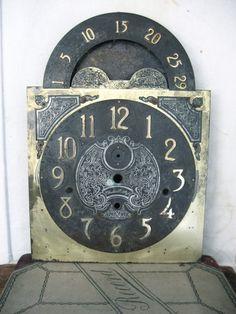 Vintage Brass Grandfather Clock Visage