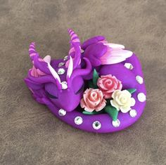 Purple rose dragon by Dragonsandbeasties