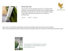 Dankzij de werking van de jojobakorrels in Forever Aloe Scrub verdwijnen dode huidcellen, wordt de huid weer heerlijk zacht, waardoor de huid beter kan ademen. Deze scrub is zo mild dat het zelfs dagelijks op het gezicht (behalve rondom de ogen) kan worden gebruikt. De scrub geeft een gevoel van luxe en heeft een exclusieve geur. Met de gestabiliseerde aloe vera gel zorgt het op een natuurlijke wijze voor een zachte en gereinigde huid die weer straalt!