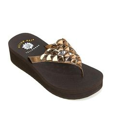 "Yellow Box ""Candela"" Leather Wedge Sandal"