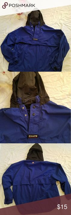 Chaps windbreaker jacket Sporty looking blue-and-black Chap's jacket. Chaps Jackets & Coats