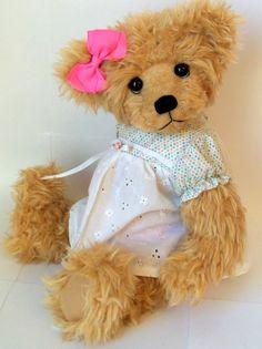 Sold Artist bear teddy bear bear one of a kind by BearsbyCarrie, $140.00