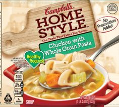 """A crazy switcheroo led to the voluntary recall Saturday of nearly 4,185 pounds of chicken soup products by the Campbell Soup Company.  The cans were labeled as """"Campbell's Homestyle Healthy Request Chicken with Whole Grain Pasta,"""" but when consumers opened the cans, instead they found """"Campbell's Homestyle Healthy Request Italian-Style Wedding Spinach & Meatballs in Chicken Broth"""" soup."""