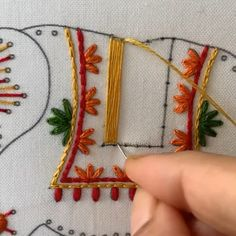 Lattice Work - - Lattice Work Hand Embroidery Videos Here's a sneak peek of lattice work done in Elephant embroidery kit 🐘 Hand Embroidery Videos, Hand Embroidery Flowers, Embroidery Stitches Tutorial, Flower Embroidery Designs, Creative Embroidery, Learn Embroidery, Hand Embroidery Patterns, Embroidery Techniques, Beaded Embroidery
