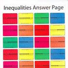This is a 24 card game of I have who has. Students look at inequalities graphed on a numberline and write the inequality that is represented. Sever...