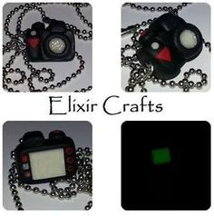 Polymer clay miniature camera necklace by ElixirCrafts on Etsy Miniature Camera, Camera Necklace, Polymer Clay Miniatures, Jewerly, Necklaces, Unique Jewelry, Handmade Gifts, Messages, Colour