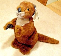 River Otter Plush Vintage World Wildlife Fund Applause Book Hang Tag Stuffed NOS #Applause