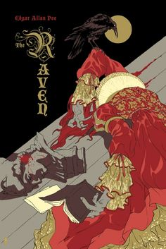 The Raven, by Edgar Allen Poe / 2011 Edition / Cover Illustration by Tomer Hanuka http://www.mondoarchive.com/poster/the-raven/