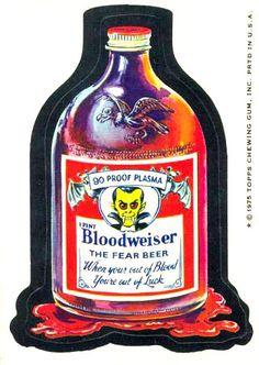 Bloodweiser   Circa 1975   Topps Wacky Packages Series #15