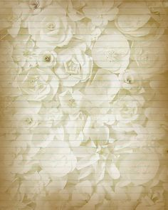 Printable Journal Page Sepia Flowers Lined by JournalExpress