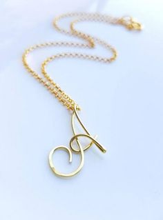 """Gold Initial Necklace, Letter """"A"""" Necklace A Jewelry Initial Jewelry Charm Necklace Monogram All Initials Available Cursive Initial A dd Initial Charm Necklaces, Initial Necklace Gold, Initial Jewelry, Letter Necklace, Initial Pendant, Bar Necklace, Pendant Necklace, Alphabet Necklace, Letter Pendants"""