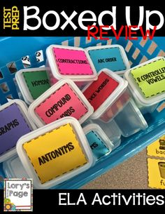 End of the Year Test Prep Boxed Up by Lory Evans 2nd Grade Ela, Second Grade, Fourth Grade, Grade 1, Small Group Reading, Phonics Words, Sight Word Activities, Teaching Phonics, Classroom Organization