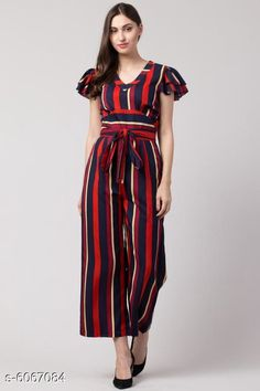 Jumpsuits Sia Attractive Women's Jumpsuit Fabric: Poly Crepe Sleeve Length: Short Sleeves Pattern: Striped Multipack: 1 Sizes:  S (Bust Size: 36 in Length Size: 48 in Waist Size: 28 in)  XL (Bust Size: 42 in Length Size: 48 in Waist Size: 34 in)  XS (Bust Size: 34 in Length Size: 48 in Waist Size: 26 in)  L (Bust Size: 40 in Length Size: 48 in Waist Size: 32 in)  M (Bust Size: 38 in Length Size: 48 in Waist Size: 30 in) Country of Origin: India Sizes Available: XS, S, M, L, XL   Catalog Rating: ★4.2 (10606)  Catalog Name: Sia Attractive Women's Jumpsuit CatalogID_921725 C79-SC1030 Code: 345-6067084-5241