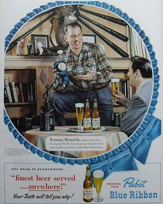 1950s PABST BLUE RIBBON